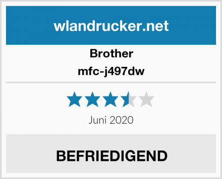 Brother mfc-j497dw Test