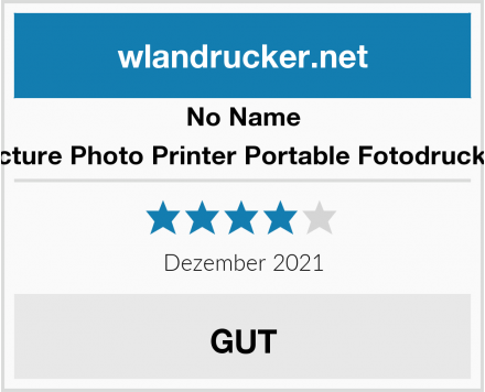 No Name Victure Photo Printer Portable Fotodrucker Test