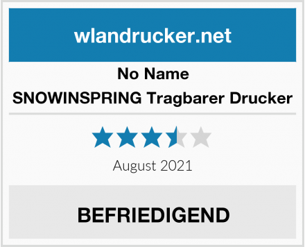 No Name SNOWINSPRING Tragbarer Drucker Test