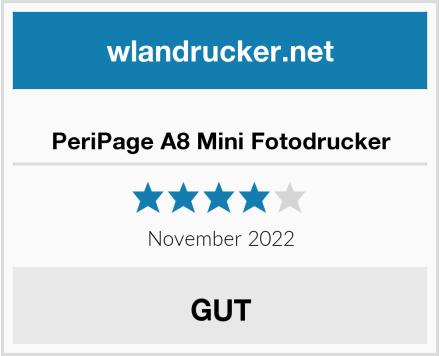 No Name PeriPage A8 Mini Fotodrucker Test