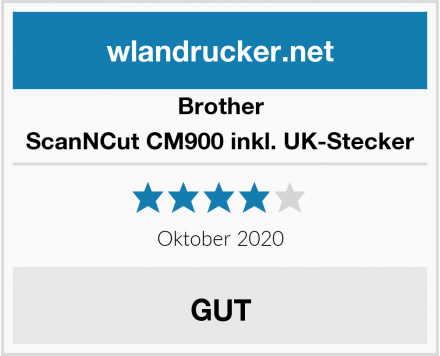 Brother ScanNCut CM900 inkl. UK-Stecker Test