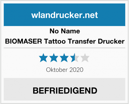 No Name BIOMASER Tattoo Transfer Drucker Test